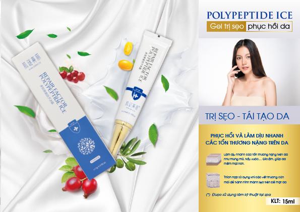 Gel Polypeptide – Gel trị sẹo, phục hồi da